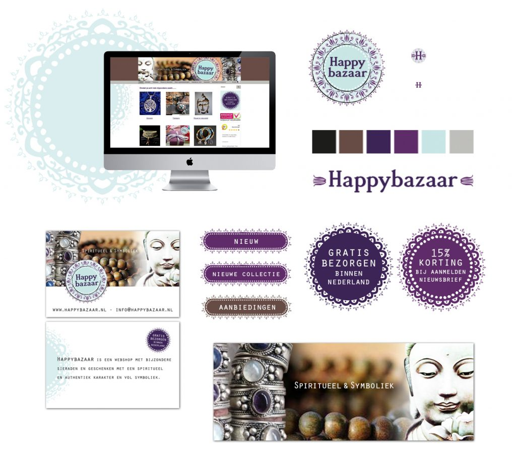 Design tools voor Happy Bazaar